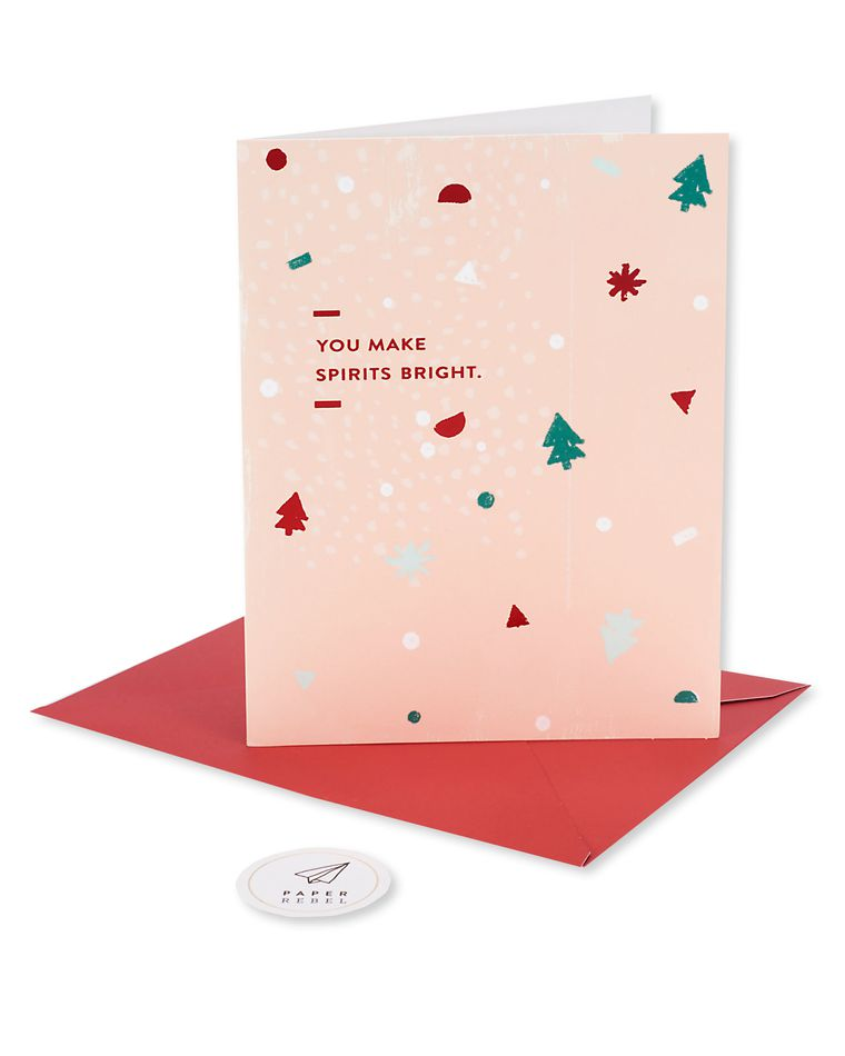 you make spirits bright christmas card