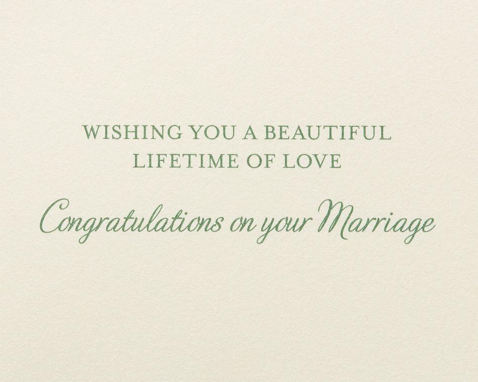 White Flowers Wedding Greeting Card