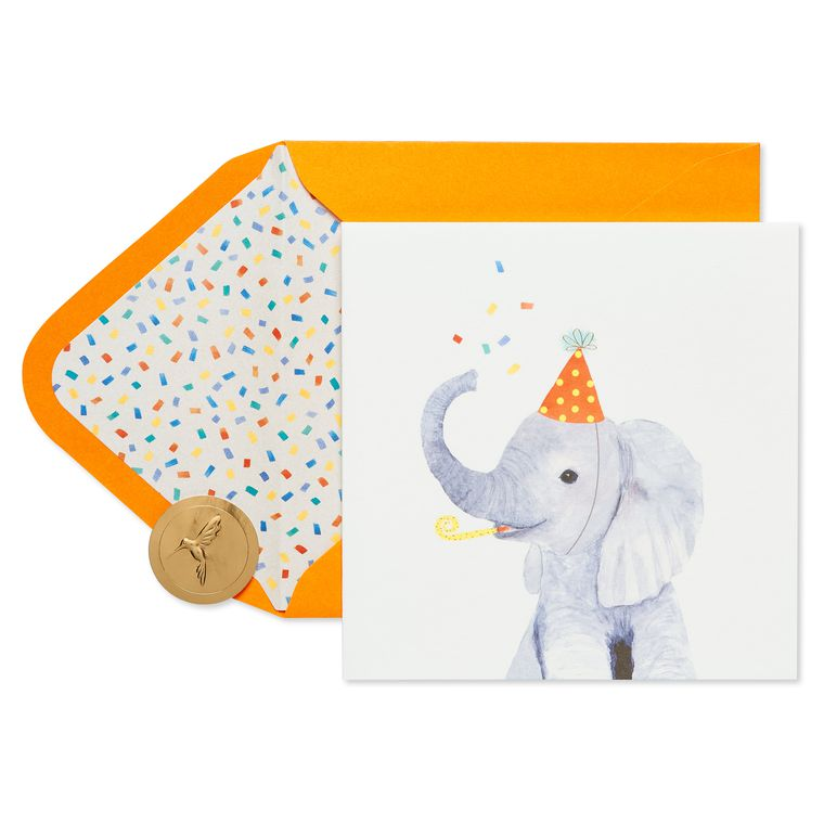 Elephant Birthday Greeting Card
