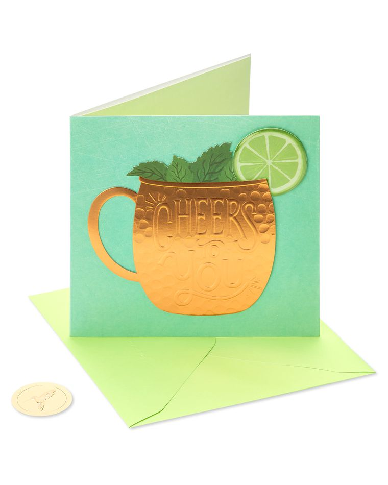 Moscow Mule Birthday Greeting Card