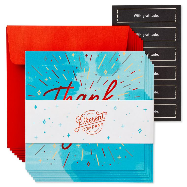 Thank You Christmas Cards, 6-Count
