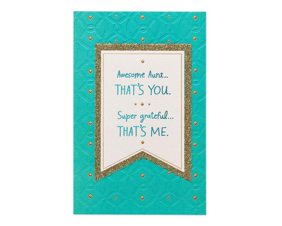 Super Grateful Mother's Day Card for Aunt