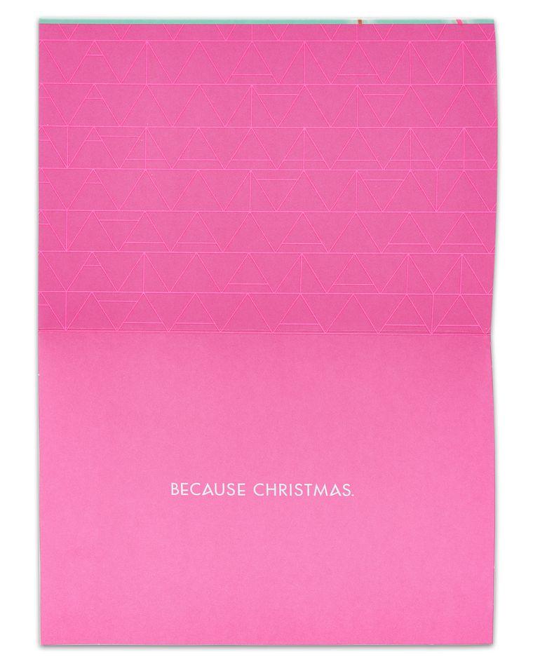 Laser Polar Bear Christmas Card