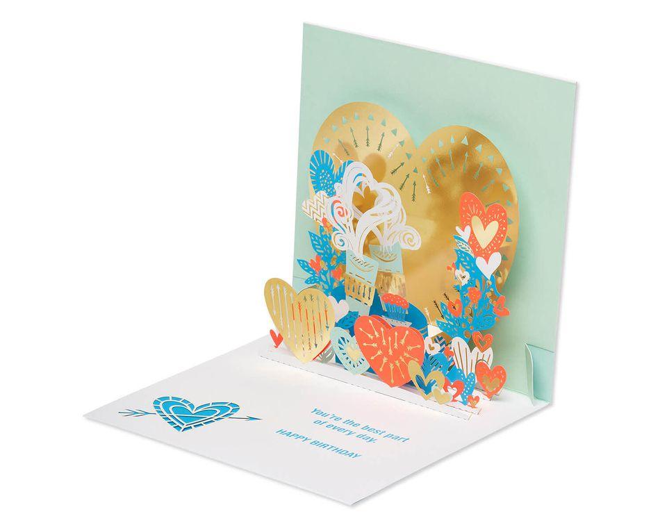 Hearts Pop-Up Birthday Card