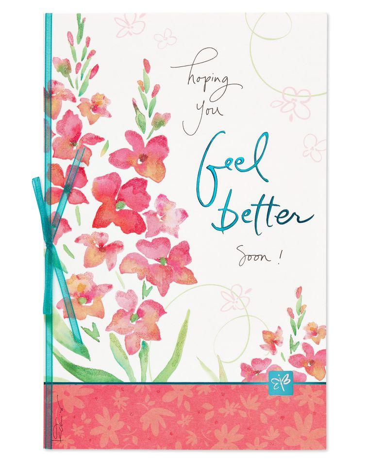 Kathy Davis Floral Get Well Soon Card