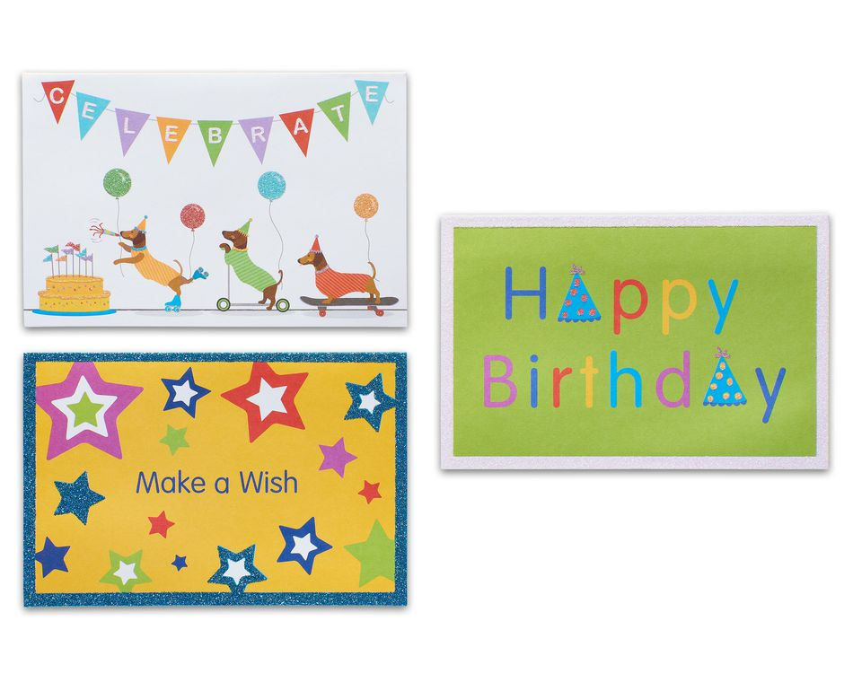 Variety Pack Birthday Cards and Envelopes, 12-Count