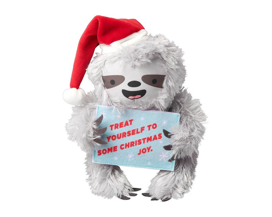 Plush Sloth Christmas Gift Card Holder