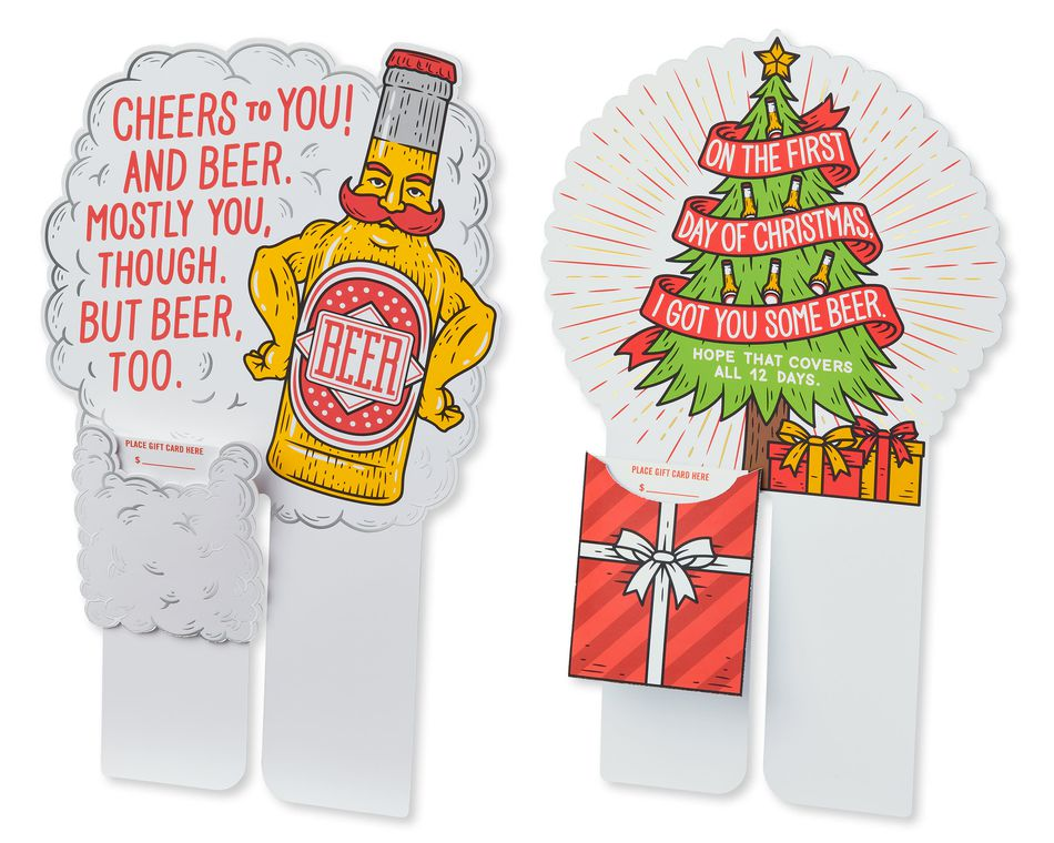 Beer Buddies Gift Card Holders, 2-Count
