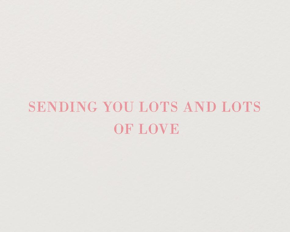 Lots of Love Valentine's Day Greeting Card