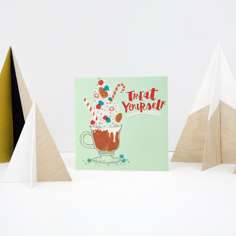 Treat Yourself Money and Gift Card Holder Greeting Card, 6-Count - Christmas, Happy Holidays, Happy New Year, Hanukkah
