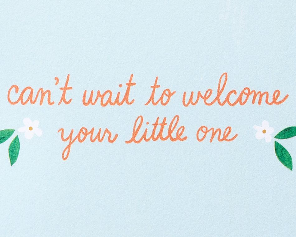 Little Cutie Gender Neutral New Baby Greeting Card