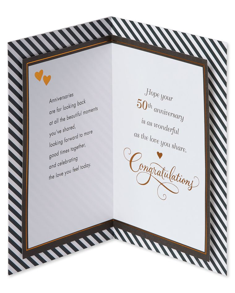 Together 50th Anniversary Card for Couple