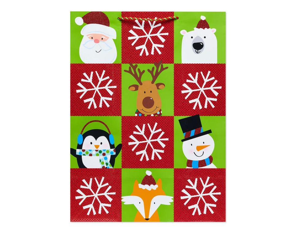 Winter Friends Blocks Jumbo Christmas Gift Bag