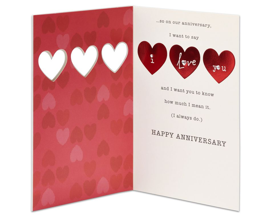 I Love You Anniversary Card