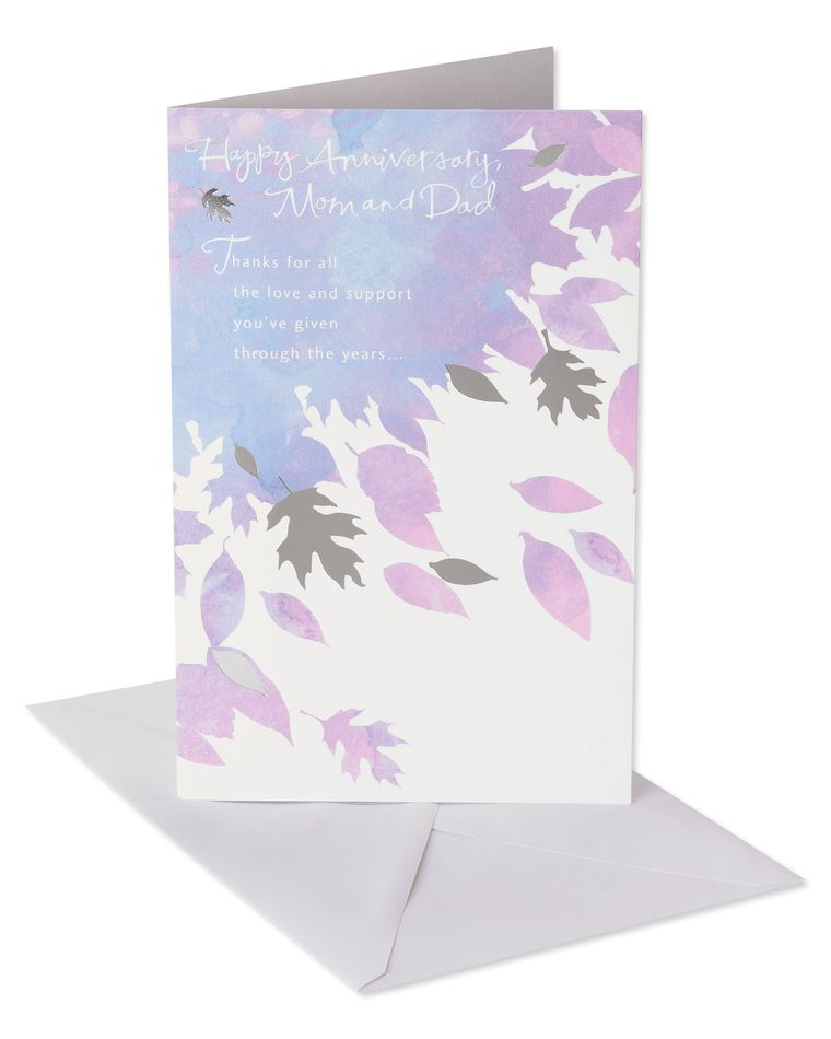 Love and Support Anniversary Card for Parents