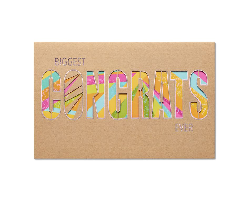 you're amazing congratulations card
