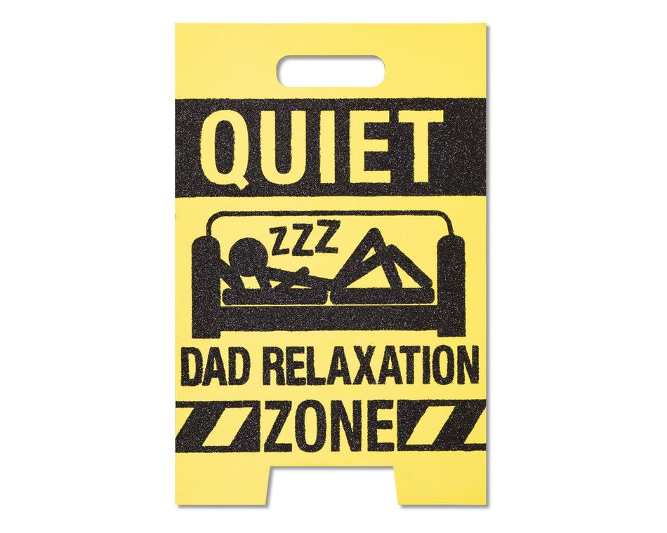 relaxation zone father's day card