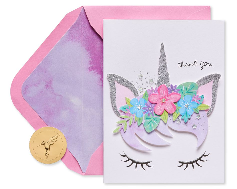 Gem Unicorn Boxed Thank You Cards and Envelopes, 8-Count