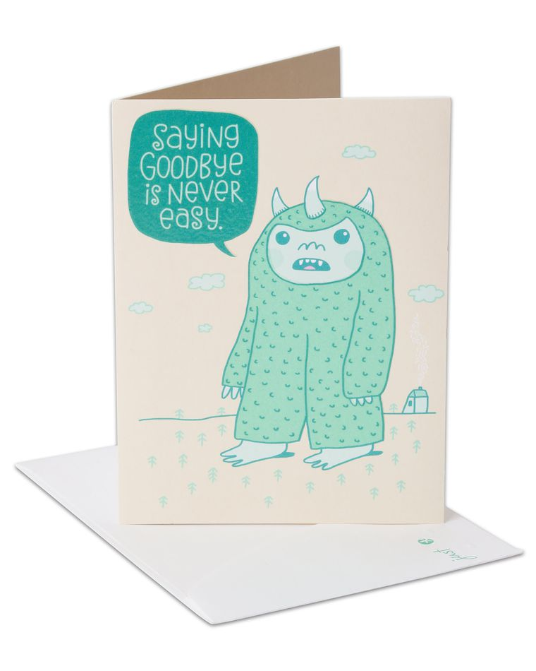 goodbye good luck card