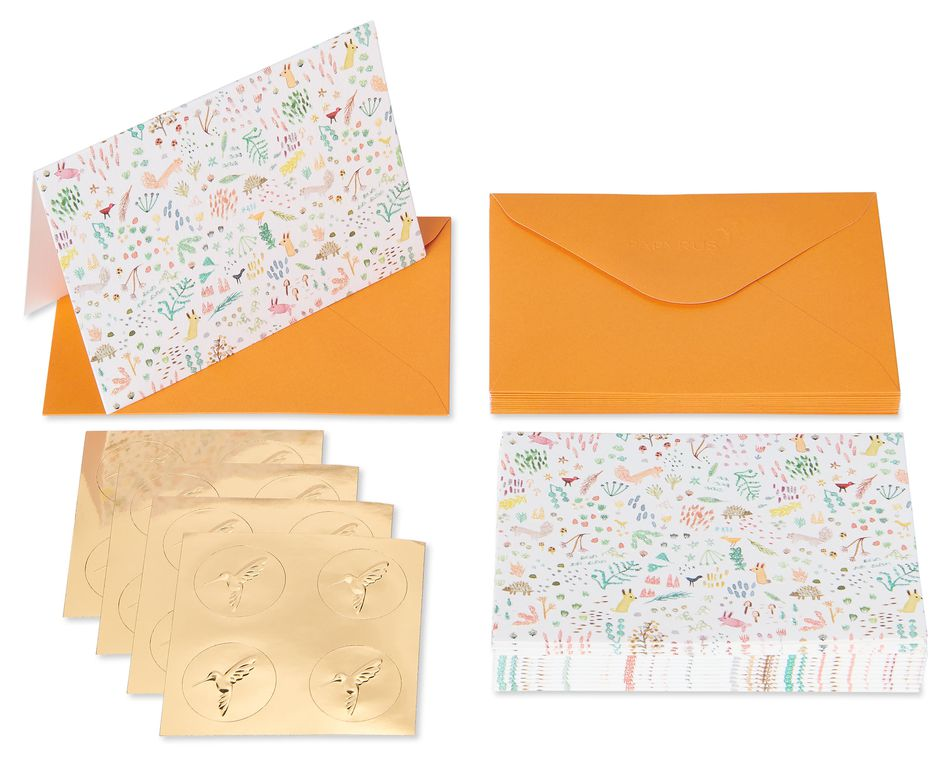 Plants and Critters Boxed Blank Note Cards with Envelopes, 14-Count