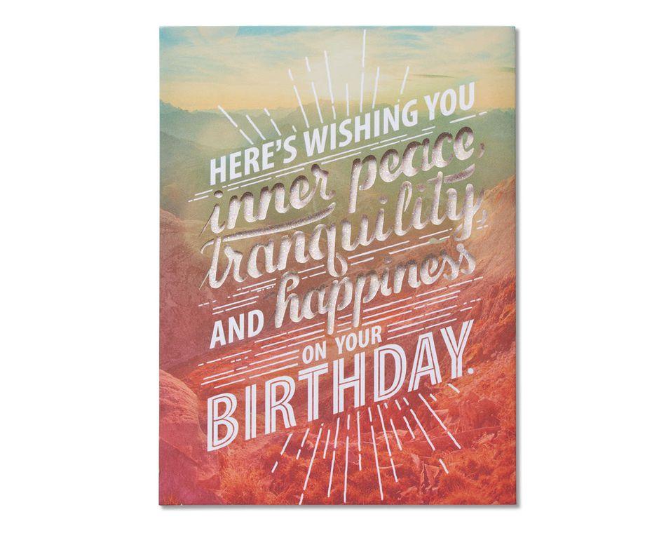 Inner Peace Birthday Card