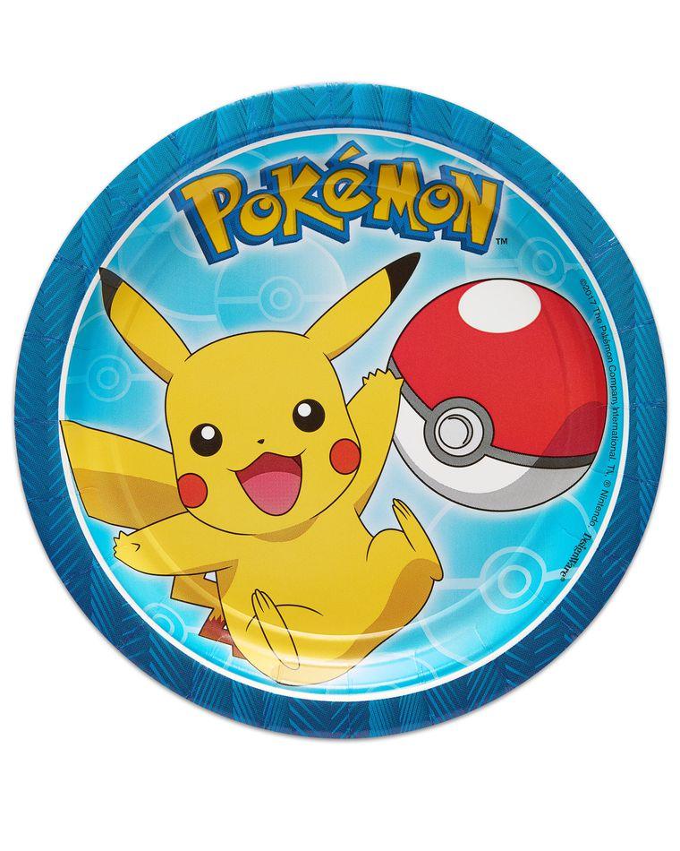 Pokémon 8-Count Dessert Round Plate