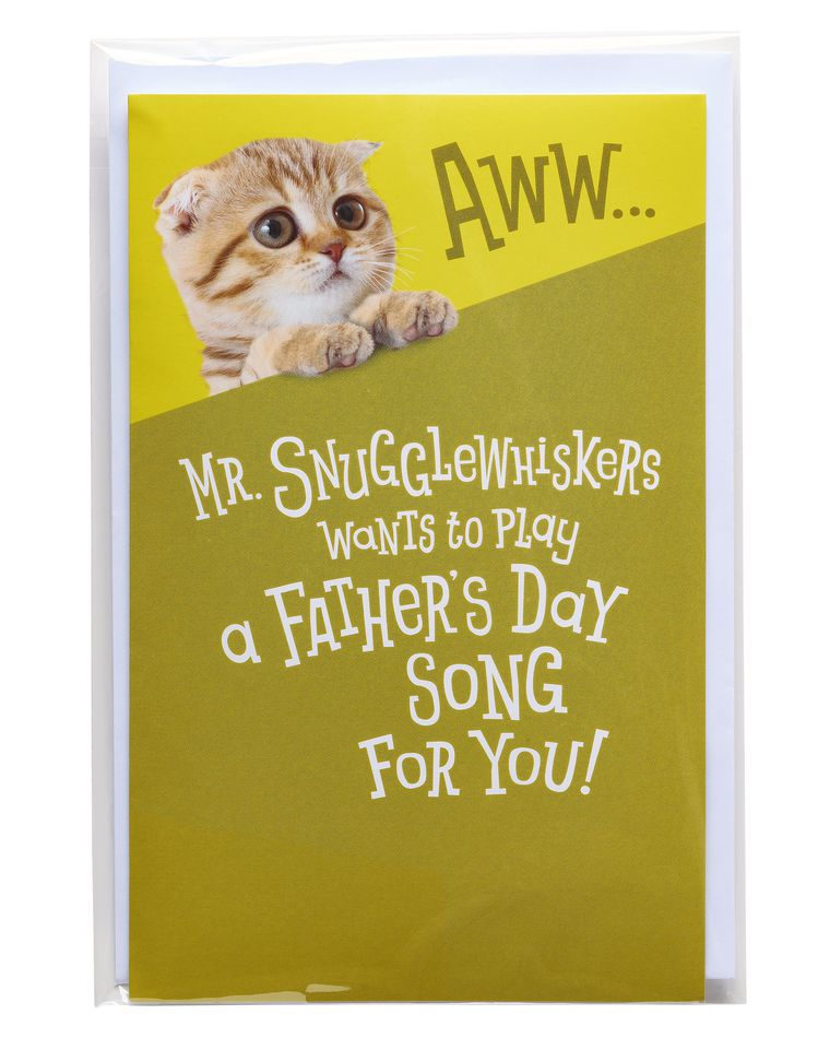 Mr. Snugglewhiskers Father's Day Card