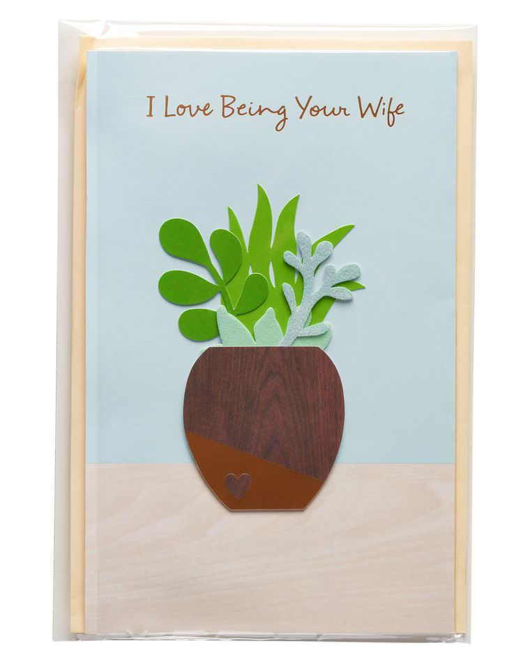 Succulent Father's Day Card for Husband