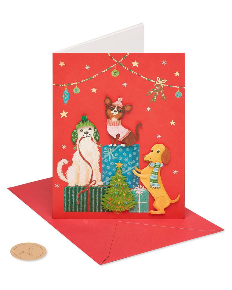 Christmas Dogs Holiday Boxed Cards, 8-Count
