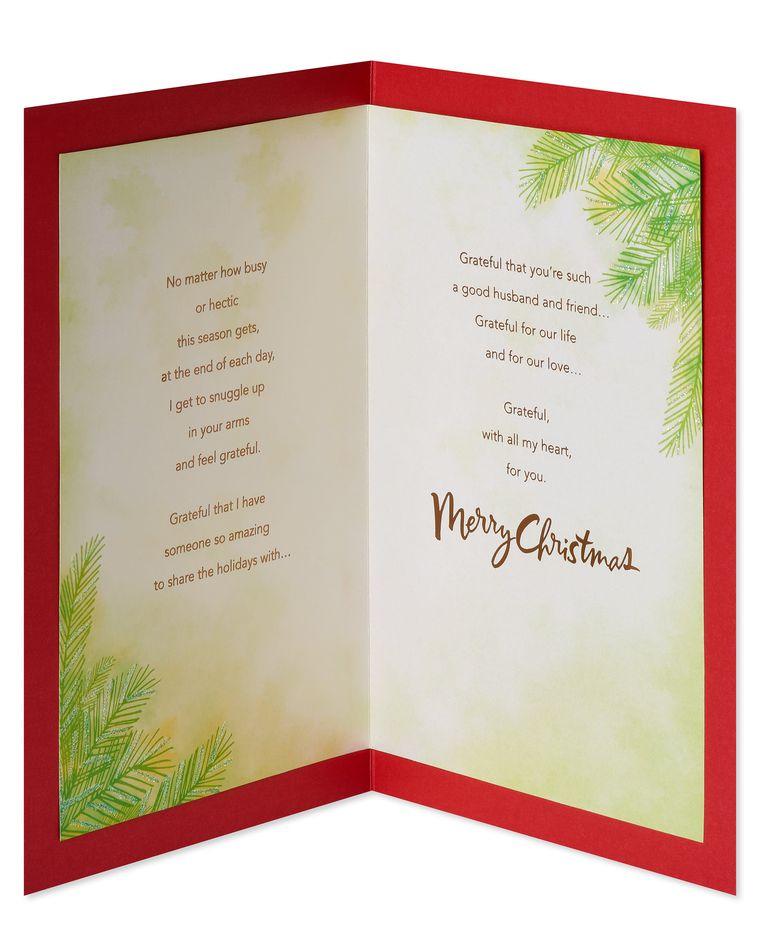 Grateful Christmas Card for Husband