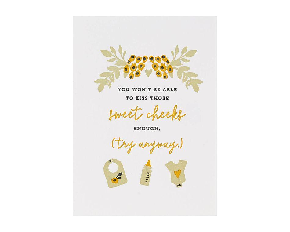 Sweet Cheeks Baby Card