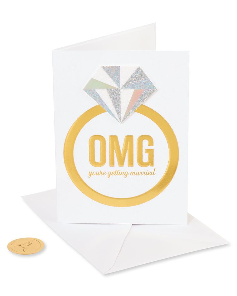 Omg Ring Funny Wedding Greeting Card