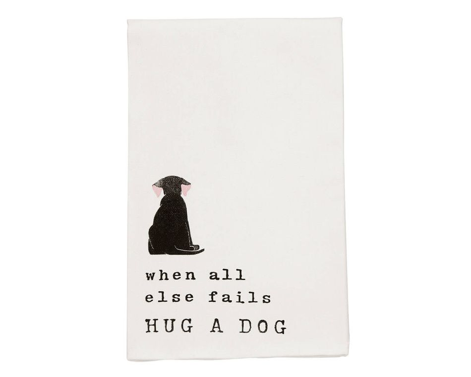 Mud Pie Black Dog Dish Towel
