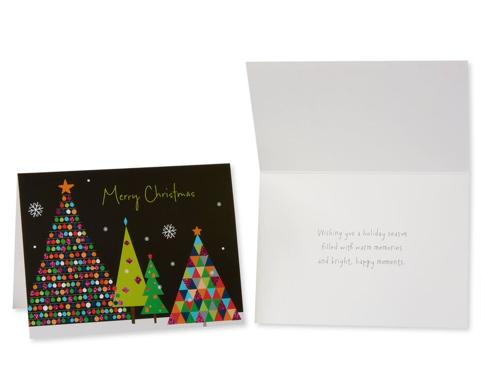 Festive and Bright Assorted Christmas Boxed Cards with White Envelopes, 20-Count