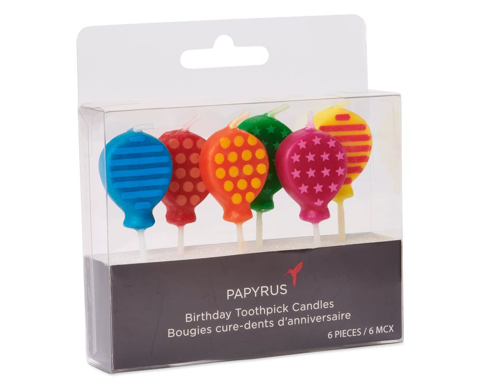 Balloon Birthday Candles, 6-Count
