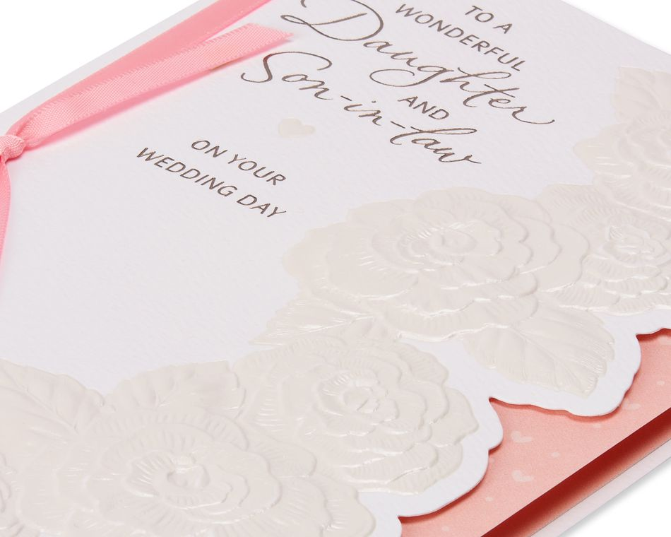 Daughter and Son-in-Law Wedding Card