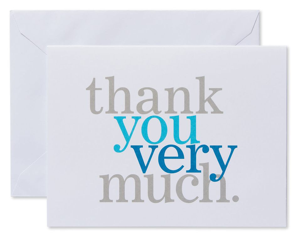 Thank You Very Much Cards and Envelopes, 50-Count