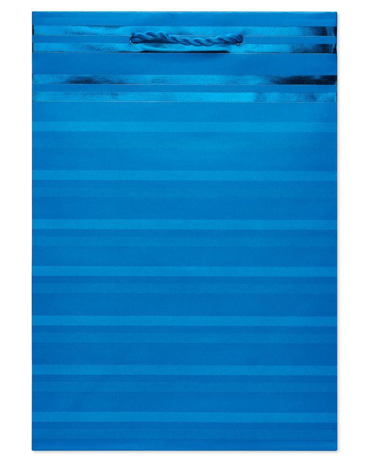 Medium Aqua Stripes Gift Bag