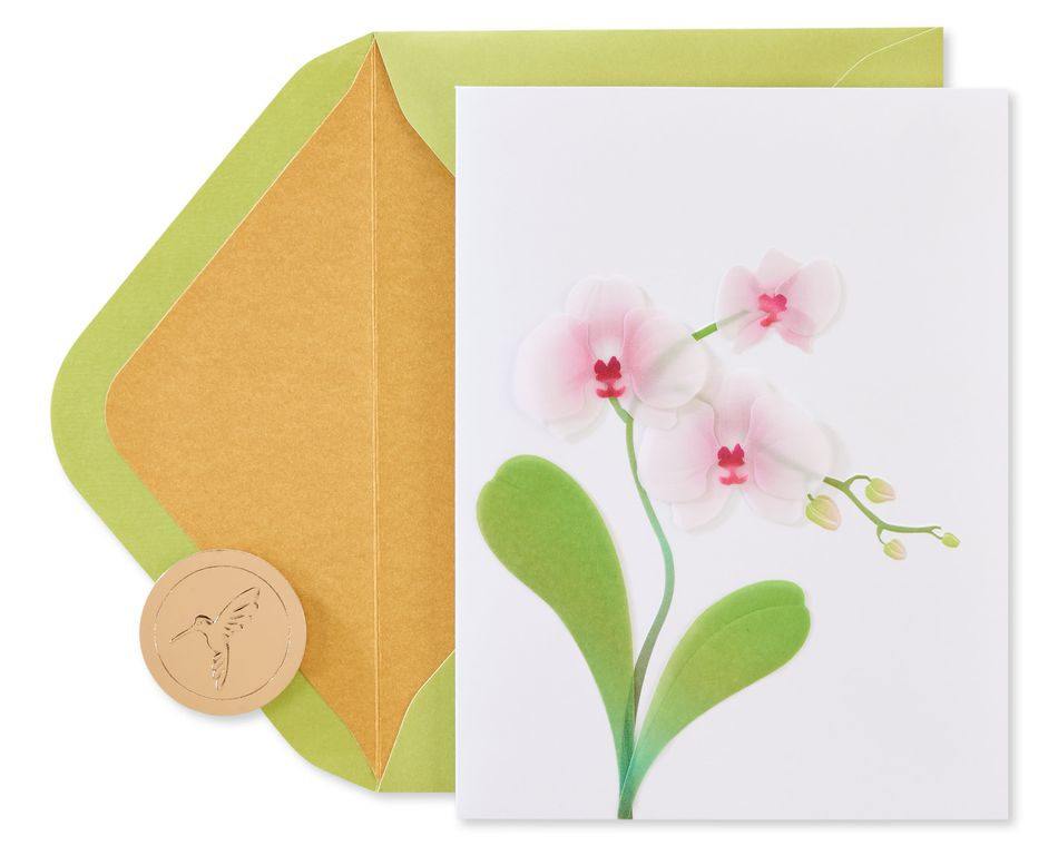 Orchid Blank Greeting Card