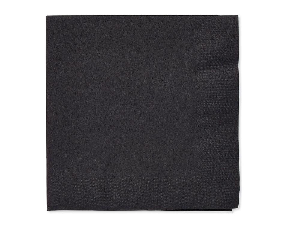 Black Paper Beverage Napkins, 50-Count