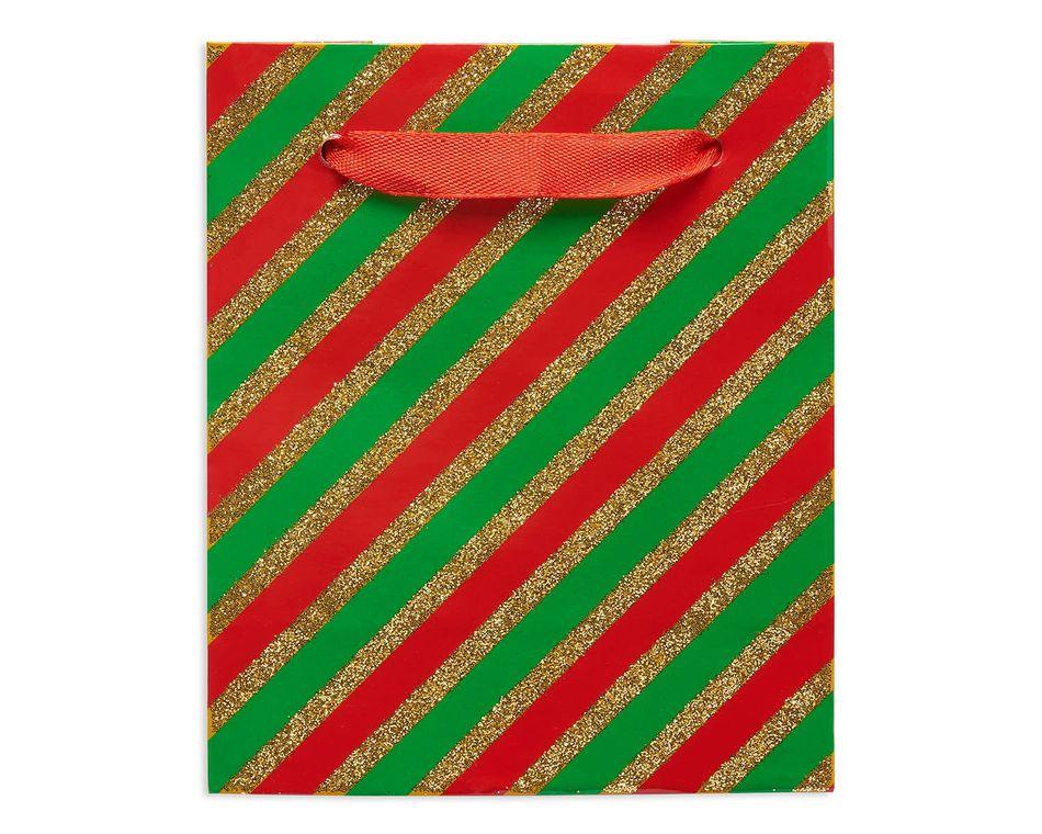 mini christmas stripes gift bag