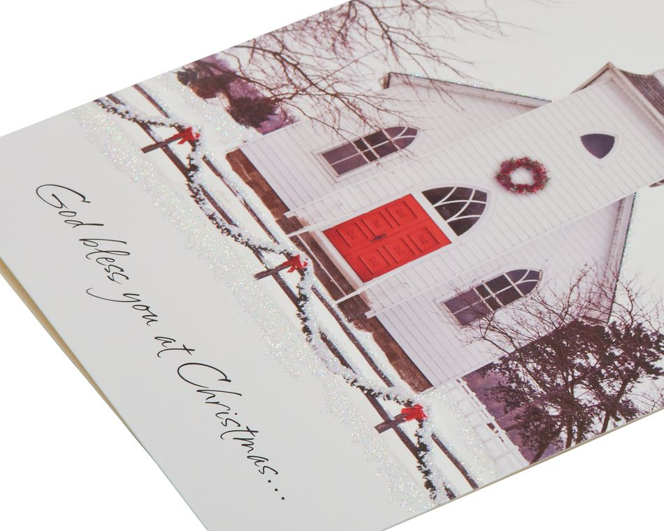 Snowy Church Christmas Boxed Cards, 14 Count