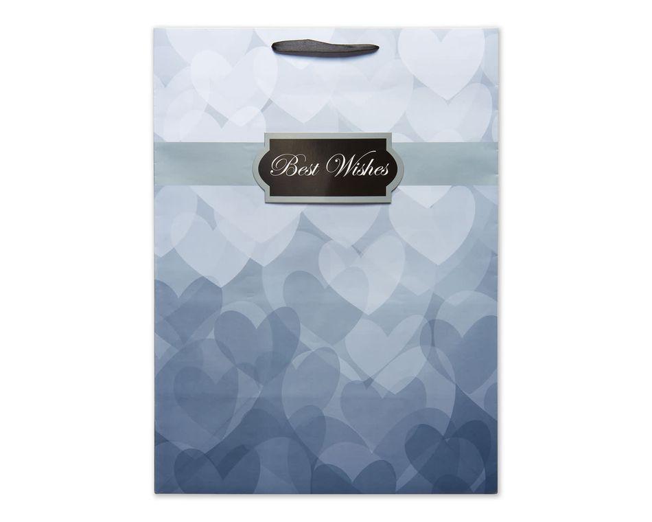jumbo wedding grey best wishes gift bag