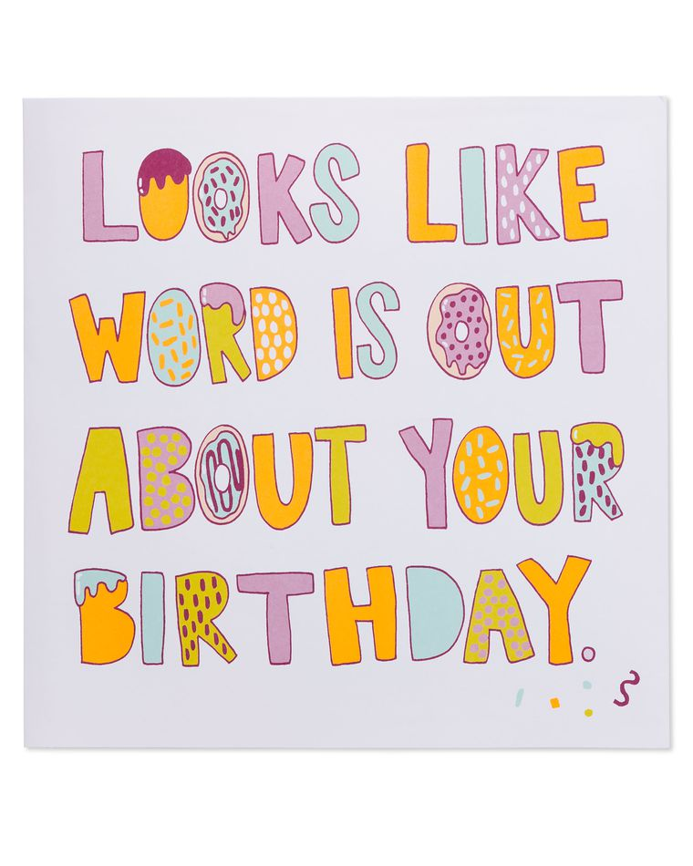 Donuts Pop-Up Birthday Card