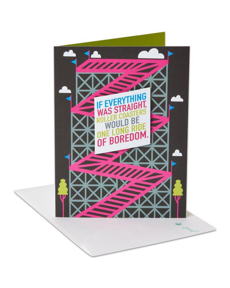 Rollercoasters Romantic Card