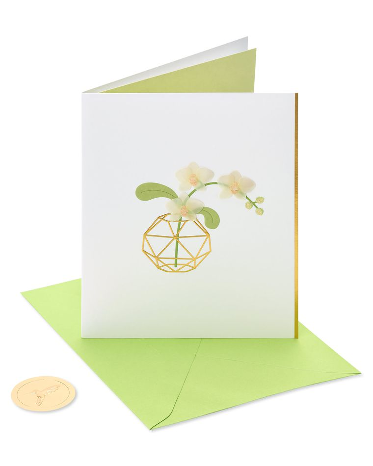 Orchid Thank You Greeting Card