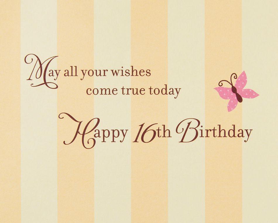 Sweet 16 Cupcakes Birthday Greeting Card