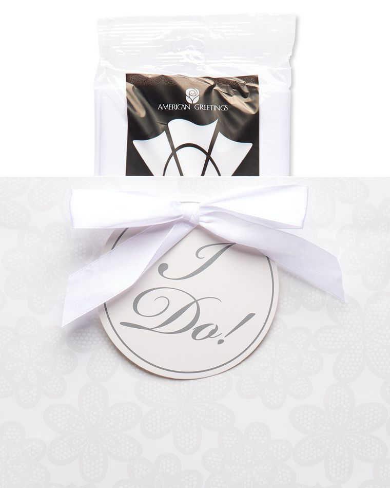 Extra-Large Lace Wedding Gift Bag with Tissue Paper; 1 Gift Bag and 6 Sheets of Tissue Paper