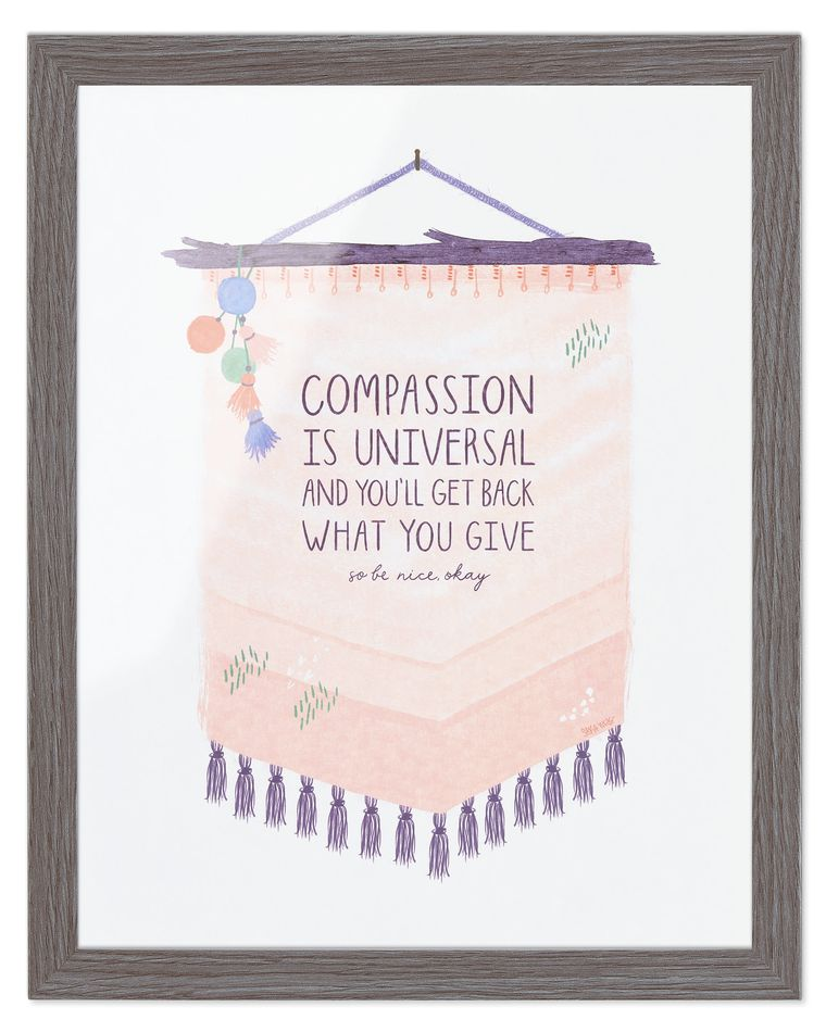 Compassion is Universal Frameable Art Print, 11 in. x 14 in.