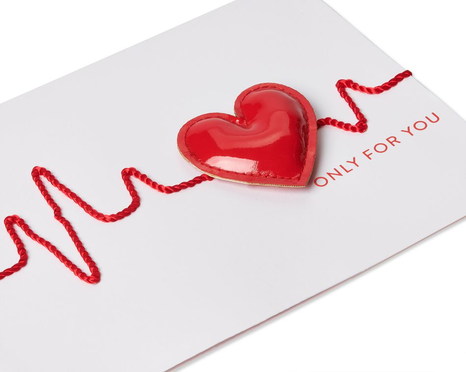 Heartbeat Valentine's Day Greeting Card